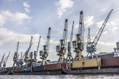 Historic cranes Royalty Free Stock Images