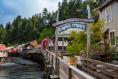 Historic Creek Street in Ketchikan Royalty Free Stock Photos
