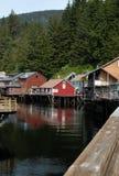 Historic Creek Street in Ketchikan, Alaska Royalty Free Stock Photography