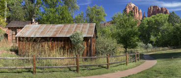 Historic Crescent Moon Ranch State Park in Sedona Arizona Stock Images
