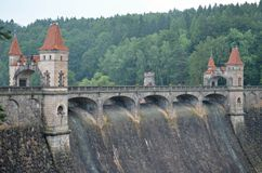 Historic dam les kralovstvi. Beautiful historic dam les kralovstvi in the czech republic Royalty Free Stock Image