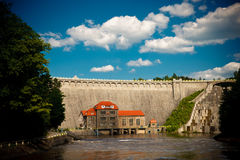 Historic dam in Pilichowice, Poland Royalty Free Stock Photo