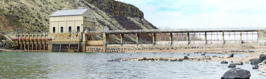 Historic dam on a river in Idaho Royalty Free Stock Images