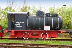 Historic Dampfspeicherlok in museum Speyer Stock Image