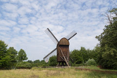 Historic Danish Windmill in Frilandsmuseet Royalty Free Stock Images