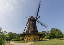 Historic Danish Windmill in Frilandsmuseet Stock Photos