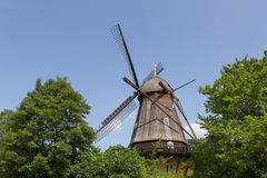 Historic Danish Windmill in Frilandsmuseet Royalty Free Stock Photos