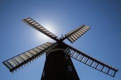 Historic Danish Windmill Silhouette Royalty Free Stock Photos