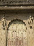 Historic Decorated Door Maheshwar Ghat India Stock Images