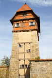 Historic defense tower in Dinkelsbuehl Stock Photos