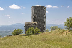 Historic defense tower, France. Historic defense tower near the village of Mirabel, Southern France stock photos