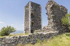 Historic defense tower, France. Historic defense tower near the village of Mirabel, Southern France stock image