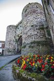 The historic defensive gateway in the famous ancient town of Rye in East Sussex, England. The ancient town of Rye in East Sussex has many historic features. Here royalty free stock photos