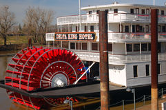 Historic Delta Queen Paddle Boat, on the Sacramento River Royalty Free Stock Images