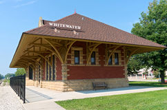 Historic Depot in Whitewater Royalty Free Stock Photo