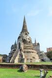 Historic destroyed temple in World Heritage city, Ayuddhaya Stock Photos