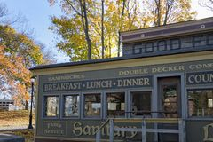 Historic Diner. In autumn Royalty Free Stock Photo