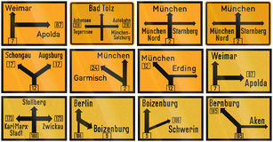 Historic Direction Signs In Germany Stock Images