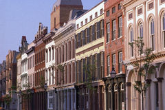 Historic district buildings Royalty Free Stock Images