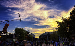 Historic District - Confucius Temple sunset Royalty Free Stock Photography