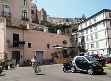 Historic district of Gaeta in the Lazio region in central Italy. View of the typical architecture of the historic center of Gaeta. Lazio region in central Italy stock images