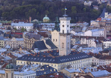 Historic district of Lviv Royalty Free Stock Image