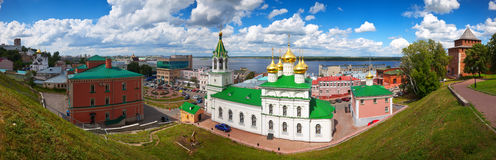 Historic district of Nizhny Novgorod in summer Stock Photos