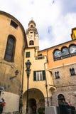 Historic district in Sanremo, Italy Stock Photo