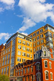 Historic district of US capital near Metro center. Royalty Free Stock Images