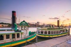 Historic District waterfront of Savannah, Georgia royalty free stock image