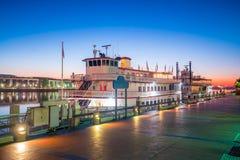 Historic District waterfront of Savannah, Georgia Stock Photo