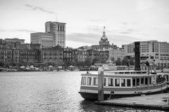 Historic District waterfront of Savannah, Georgia Stock Photography