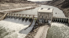 Historic Diversion Dam on the Boise River in Idaho Royalty Free Stock Photos