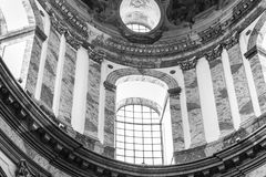 Historic dome. In black and white royalty free stock images