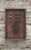 Historic doorbell plate Royalty Free Stock Images
