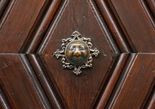 The historic doorknob Apfelweibla of Bamberg in Bavaria Stock Photography