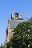 Historic Dordrecht cathedral Royalty Free Stock Photos