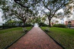 Historic Downtown Charleston South Carolina on a Warm Day royalty free stock image