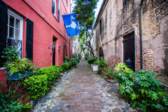 Historic Downtown Charleston South Carolina on a Warm Day.  royalty free stock photography