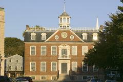 Historic downtown and City Hall and Courthouse in Newport, Rhode Island Stock Photo