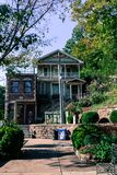 Historic Downtown District in Eureka Springs stock image