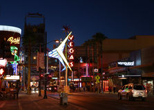 Historic downtown Las Vegas. Is shown after sunset Royalty Free Stock Photo