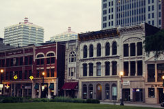Historic downtown of Louisville royalty free stock photos