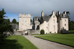 The historic Drum Castle in Scotland, Great Britain. The historic Drum Castle and gardens in Scotland, Great Britain Royalty Free Stock Photo