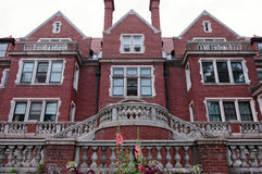Historic Duluth Mansion of Jacobean Style. AUGUST 31, 2014: Historic Glensheen Mansion as it appears in Duluth, Minnesota. The 39-room Jacobean estate is Royalty Free Stock Photography