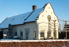 Historic Dutch house in wintertime Royalty Free Stock Images