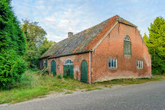 Historic Dutch long gable farmhouse built in 1885 Royalty Free Stock Image