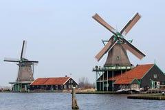 Historic Dutch Windmills Royalty Free Stock Photos