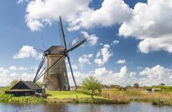 Historic dutch windmills near Rotterdam Stock Photography