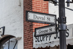 Historic Duval Street in Key West, Florida Stock Images